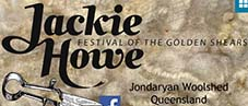 jackie howe festival of the golden shears the woolshed at jondaryan