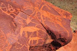 aboriginal rock carvings