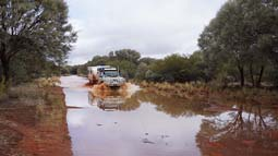 flooded track north of peak hill pilbara