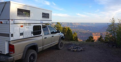 north rim grand canyon camping moon dodge ram